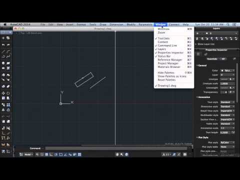 AutoCAD 2014 for Mac Tutorial | Toolbars And The Menubar