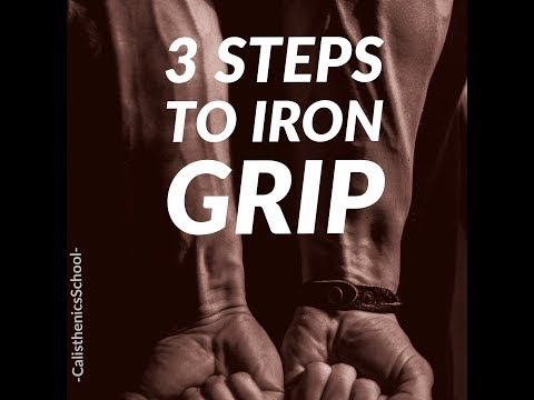 3 steps to IRON GRIP(How to get strong wrists)