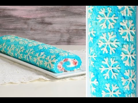 SNOWFLAKE CAKE ROLL, HANIELA'S