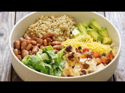 How to Make Chipotle Chicken Quinoa Burrito Bowls