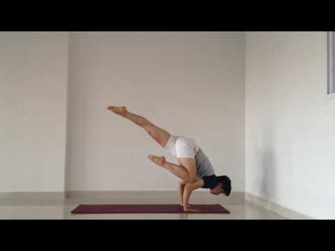 Downward dog - Flying Crow - Crow Pose - Headstand