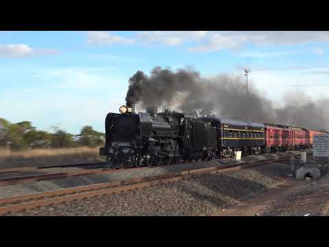 A2 986 Steam Train Making Music from Geelong to Melbourne