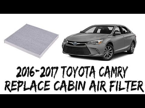 How To Replace Cabin Air Filter 2016-2017 Toyota Camry 17 16
