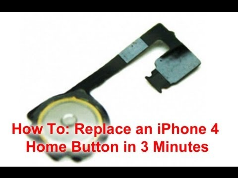 iPhone 4 Home Button Replacement in 3 Minutes