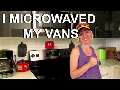 I microwaved my Vans Slip Ons to break them in - Part 1 || Reclaim Adventure