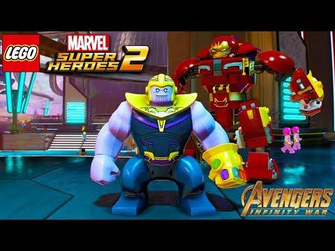 LEGO Marvel Superheroes 2 All Avengers Infinity War Characters Unlocked + Free Roam Gameplay