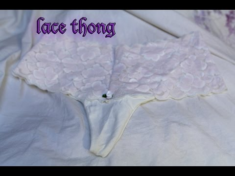 Make a sexy pair of lace panties| DIY thong