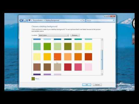 Changing Desktop Background Image in Windows Vista