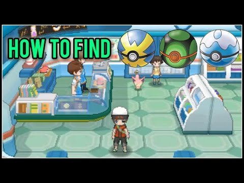 Let's Find | How & Where to Find the Quick Ball, Dusk Ball, and Dive Ball | Pokemon ORAS
