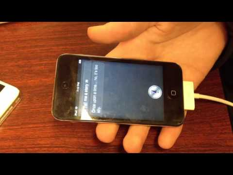 Siri running on iPod touch 4G