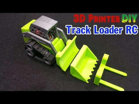 How To Make a Mini Track Loader RC With 3D Printer