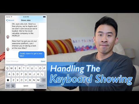 Swift: FB Messenger - Handling the Keyboard Showing (Ep 7)