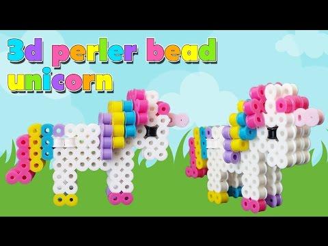 How To Make A Cute Perler Bead 3D Unicorn