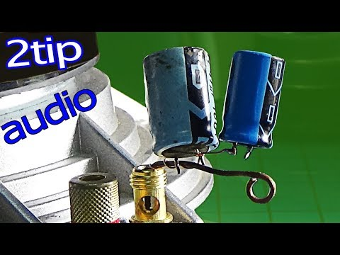 How to connect the speaker to the amplifier, 2 tips to use good capacitors that are cheap to boost s