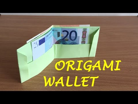 How to make a paper wallet (Origami wallet)