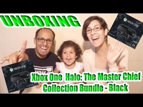 Unboxing MICROSOFT   Xbox One 500GB Halo  The Master Chief Collection Bundle   Black
