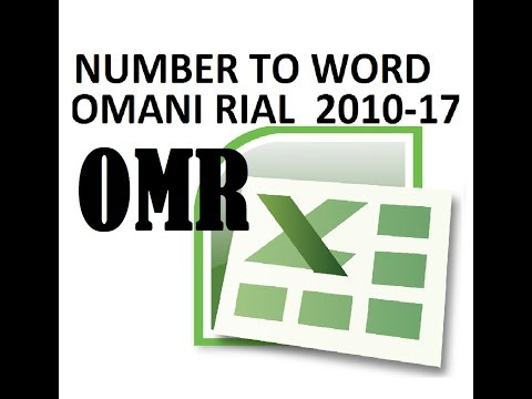 How to convert numeric of Omani Riyal into word in excel numeric value into English words in Excel