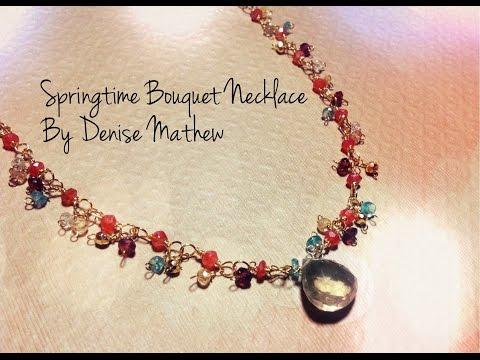 Springtime Bouquet Necklace by Denise Mathew