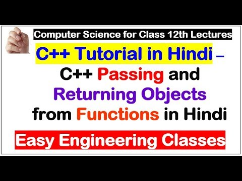 C++ Passing and Returning Objects from Functions in Hindi