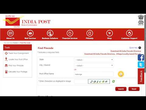 Find all India Pincode based on village or locality or city name from India post site
