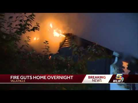 Massive fire guts Villa Hills home