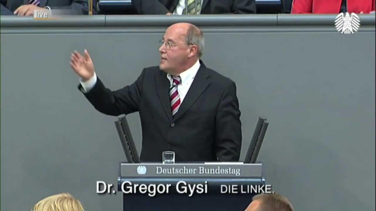 Gregor Gysi, DIE LINKE: Frau Bundeskanzlerin! Ich weiß nicht, wo Sie gerade wieder rumturnen.