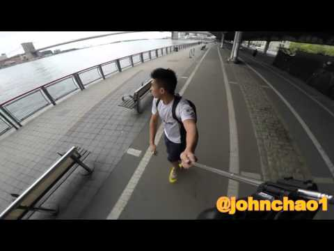 NYC pennyboard Hudson River HD available