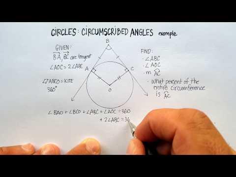 Circles: Circumscribed Angle (Example)
