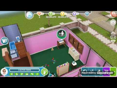 Sims freeplay Part 11 - Newborn baby + Aging the preteens to teens