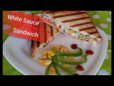 White Sauce Sandwich Recipe  Cheesy Sandwich