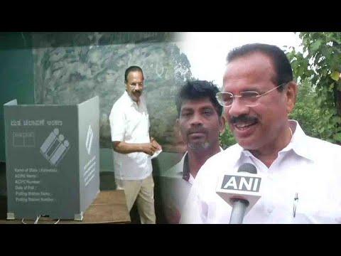 Karnataka Election: BJP leader DV Sadananda Gowda casts vote in Puttur | OneIndia News