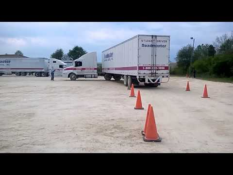 Roadmaster Truck Driving School (Backing a truck)