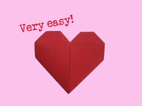 Fold heart - very easy way - how to make a paper heart - folding
