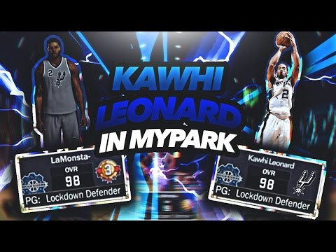 Nba2k17- Kawhi Leonard At The Park! Defensive Player Of The Year! StrapGod Meets Strapgod!