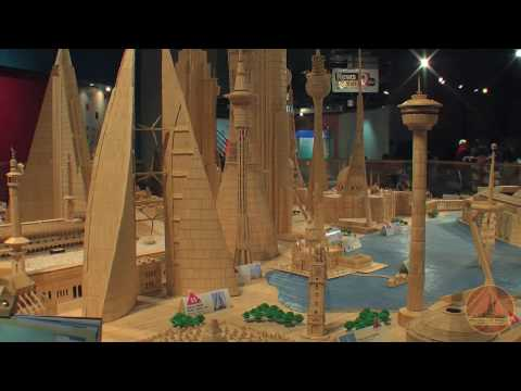 Toothpick City II: The largest toothpick structure on the planet.