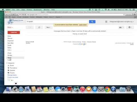 Instructional on how to delete your spam and your trash from gmail