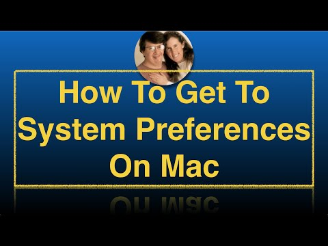 How To Get To System Preferences On Mac (even without mouse)