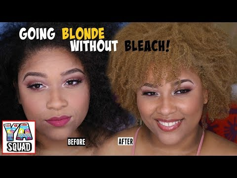 HOW I DYED MY HAIR BLONDE WITHOUT BLEACH!!
