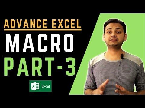 MACRO (PART-3) Advanced Excel 2018 (Powerful Function) Macro in Excel in Hindi by TechGuruPlus