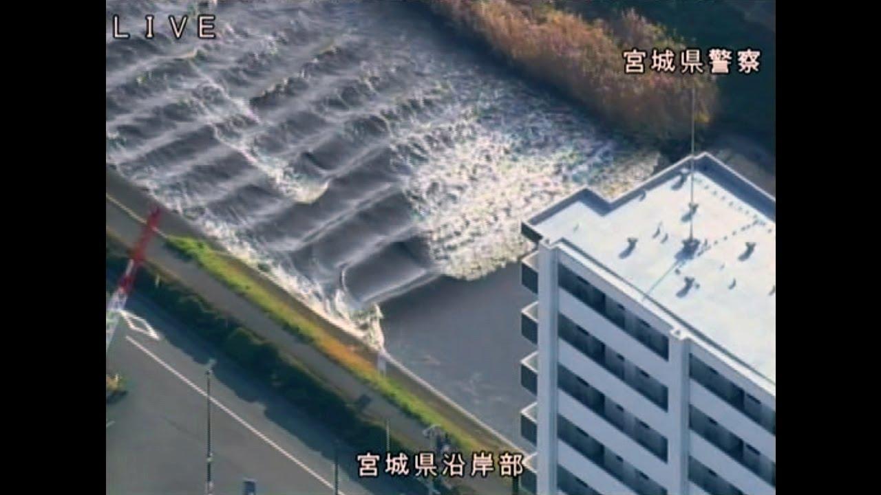 津波、川をさかのぼる 宮城・多賀城市の砂押川  TSUNAMI  Tagajyo,Miyagi
