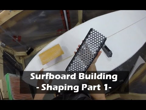 Rough Shaping a Surfboard Blank - Flattening Blank - Part 1: How to Build a Surfboard #10
