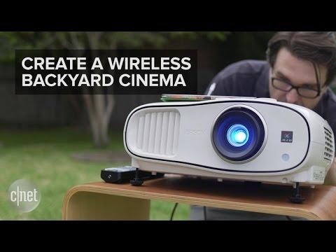 Set up your own wireless backyard cinema