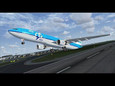 FSX | IVAO | Amsterdam - Aruba | KLM Airbus A330-300 [GER | ENG]