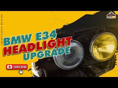 How To BMW E34 Headlight Upgrade