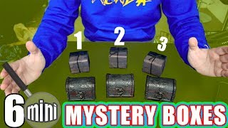UNBOXING 6 mini MYSTERY BOXES!