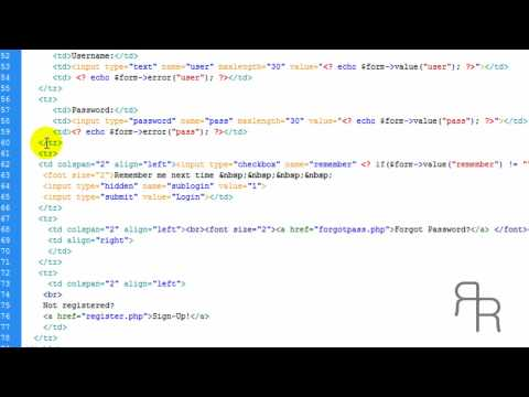 PHP tutorial (Login Form with admin and Advanced features and members accounts part 1 update)