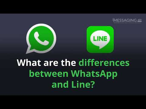 What are the differences between WhatsApp and Line?