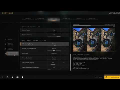 How to Disable Anti Aliasing in Black Ops 4