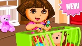 Dora the Explorer - Dora Babysitting Slacking - Dora Games for Kids English