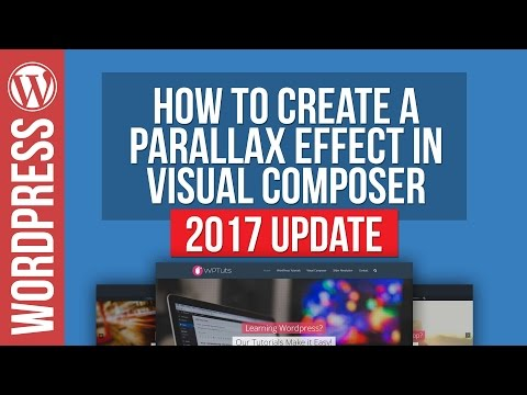 Visual Composer: How To Create Parallax Row Backgrounds 2017